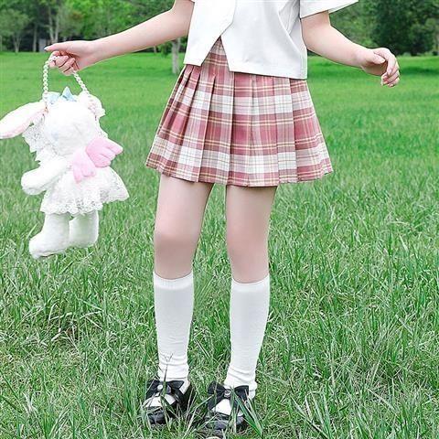 新款短裙 女童jk半身裙毛呢裙春秋款格子裙洋氣韓版中大童兒童冬款公主短裙