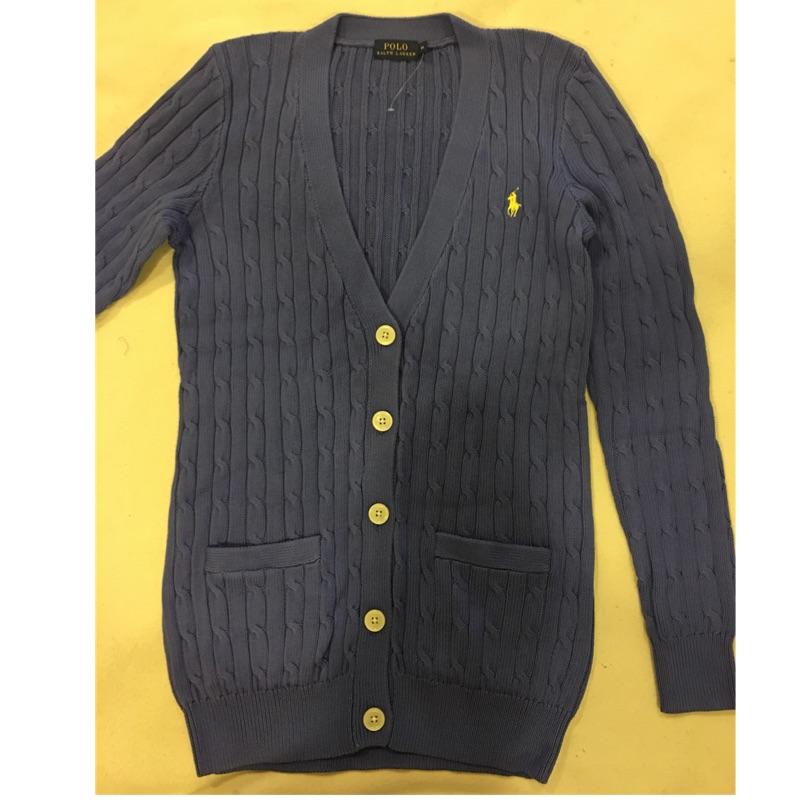 RL Ralph Lauren Polo 女大人針織長版外套 XS