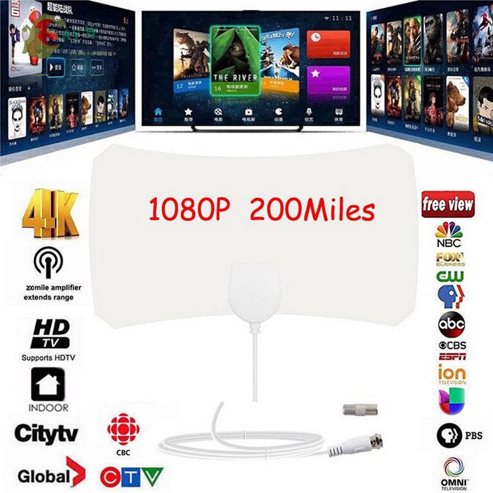 AYW 50英里範圍天線電視數字高清Skylink數字室內高清電視1080P 4K天線電纜家用
