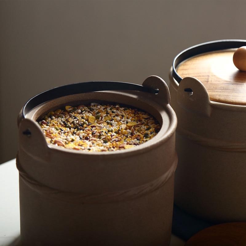 【ylj888】米缸陶瓷帶蓋家用裝米桶面桶小號雜糧儲物罐廚房防蟲防潮米箱面箱