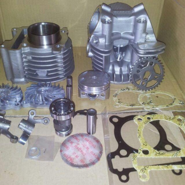 [阿鎧汽缸]勁戰 BWS GTR125 RS100(4V)改58.5MM汽缸組+缸頭(19 21)+凸輪+搖臂大全組