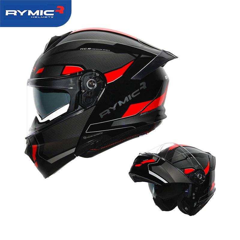 【機車用品】RYMIC R935摩托車頭盔雙鏡片揭面盔四季機車跑盔電動車安全帽男女