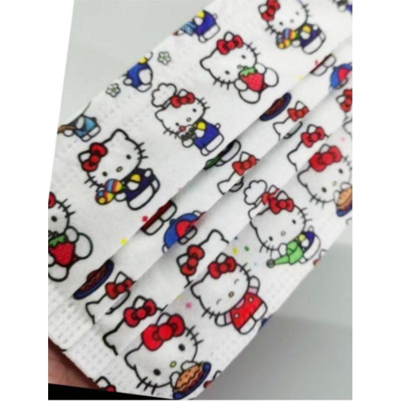 🔥現貨 熱賣🔥[ Kitty 口罩 ] 凱蒂貓 (日常生活) 卡通口罩 (非醫用) 成人款