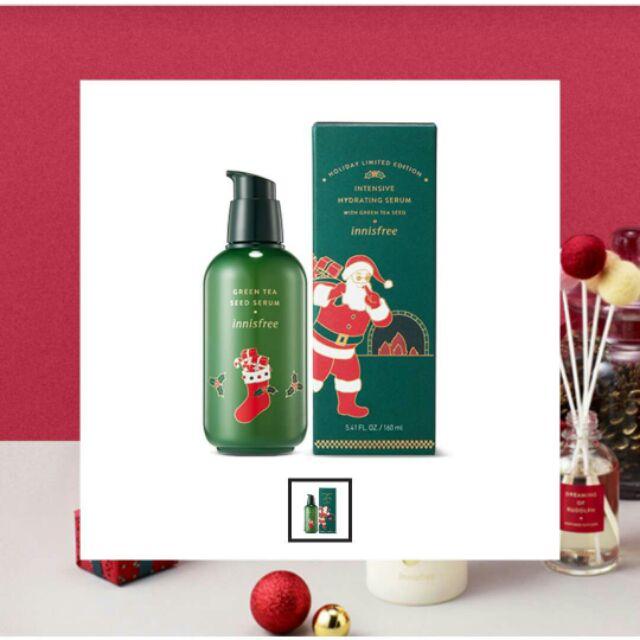 innisfree 綠茶保濕精華 綠色聖誕限量