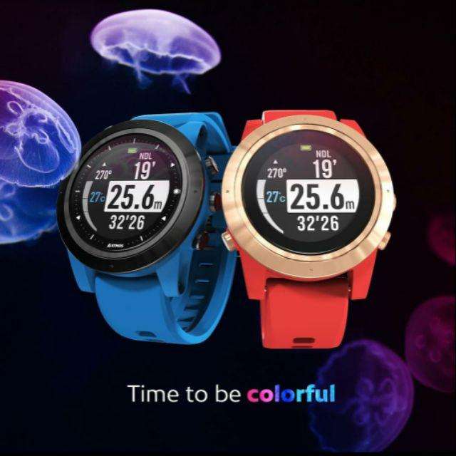 【鬧潛水】2020新色上市 ATMOS MISSION ONE 潛水電腦錶 (紅&藍)