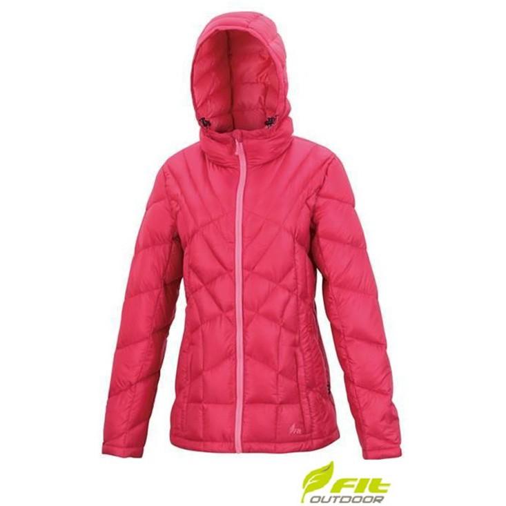 維特FIT HW2303 女輕量連帽羽絨外套 15桃紅色(登山屋)