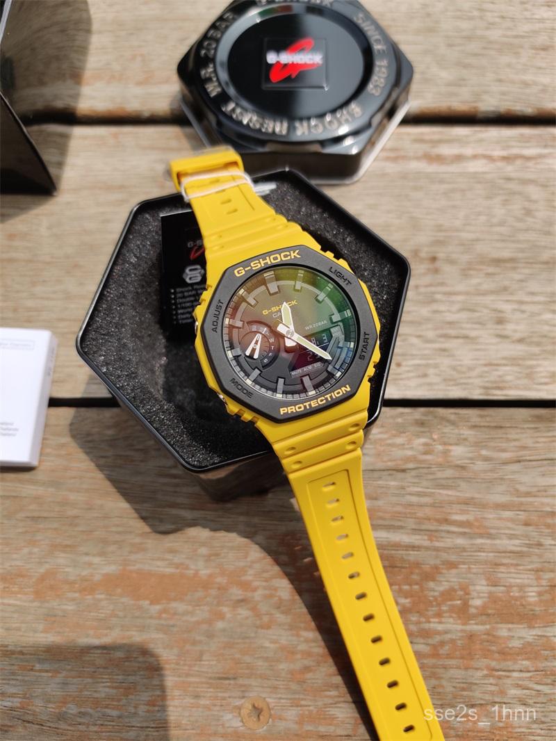 公司貨卡西歐八角 農家橡樹碳纖維手錶男GA-2110SU-9A/3A GA-2100-1A
