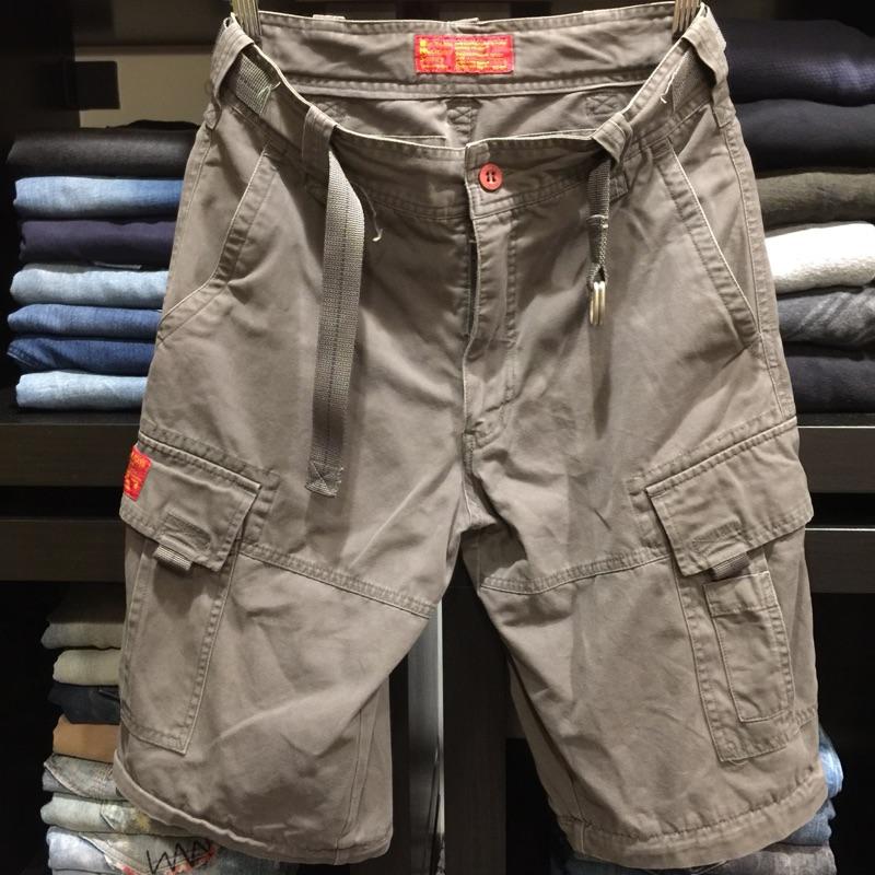 (二手)BIG TRAIN JEANS男裝口袋工作褲👖
