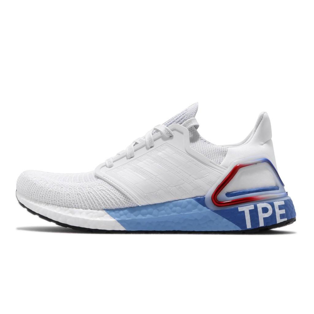 adidas 慢跑鞋 UltraBoost 20 TPE 白 藍 紅 男鞋 女鞋 運動鞋 FX7816 【ACS】