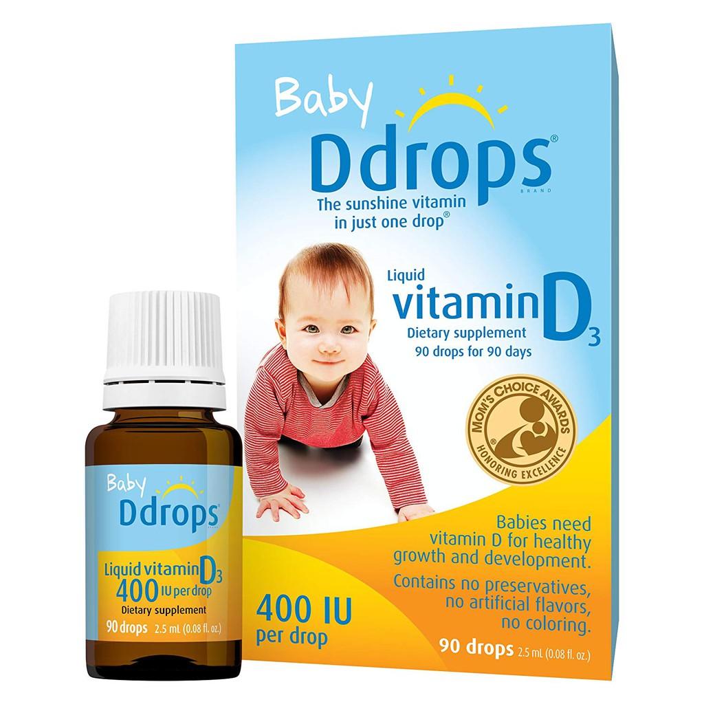 Ddrops Baby *效期:04/2023,加拿大 維他命D3 400IU 維生素D3 滴露90天份