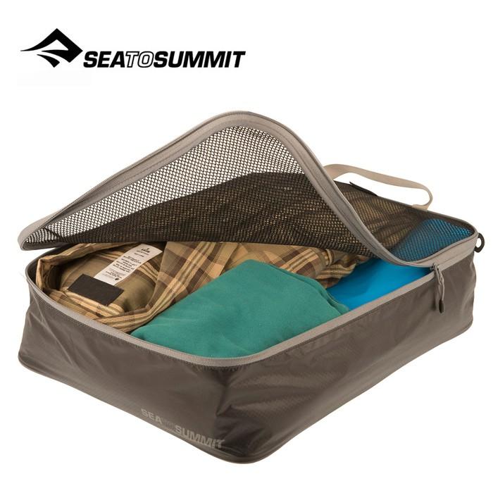 【Sea To Summit 澳洲】旅行打理包 衣物打理包【M號】黑/淺灰 (ATLGMBM)