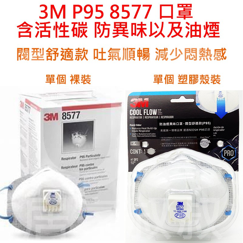 3M tekk Protection專業防護系列 8577 P95 防異味及防油煙口罩  防塵 炒菜 油漆口罩