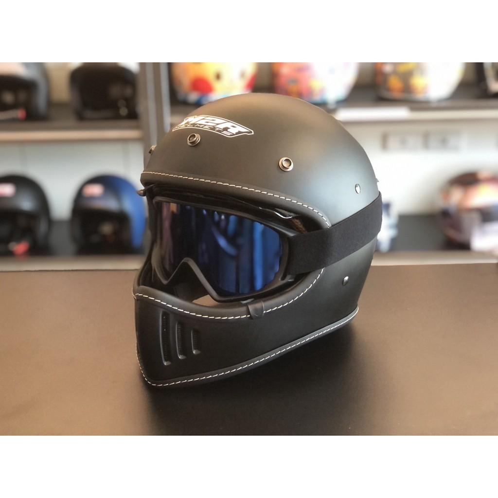 ◆東橋安全帽 EB HELMET◆ M2R X4.5 復古風鏡 電鍍 止滑設計