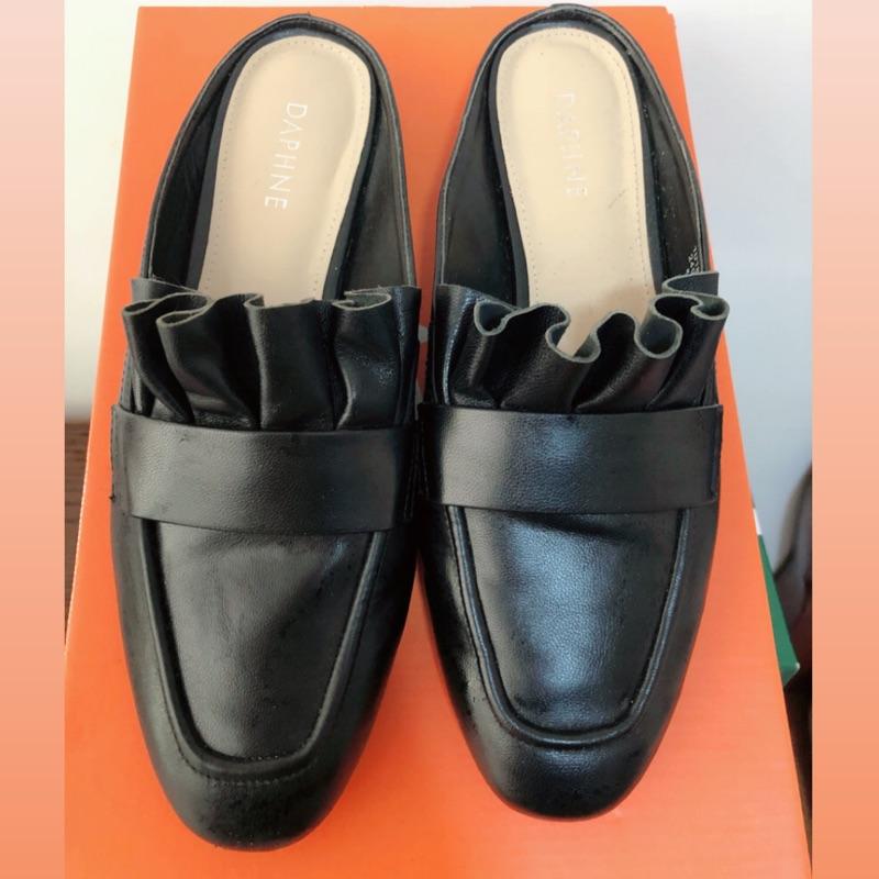 達芙尼荷花造型穆勒鞋 黑 女鞋