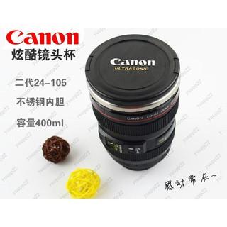 Canon原標創意咖啡杯茶水杯子 佳能二代相機鏡頭不銹鋼內膽保溫杯 桃園市