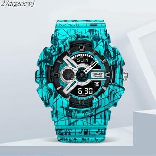手錶男女 爆裂系列 卡西歐同款 數字+指針雙顯示 防水夜光 運動手錶 潮流手錶 桃園市