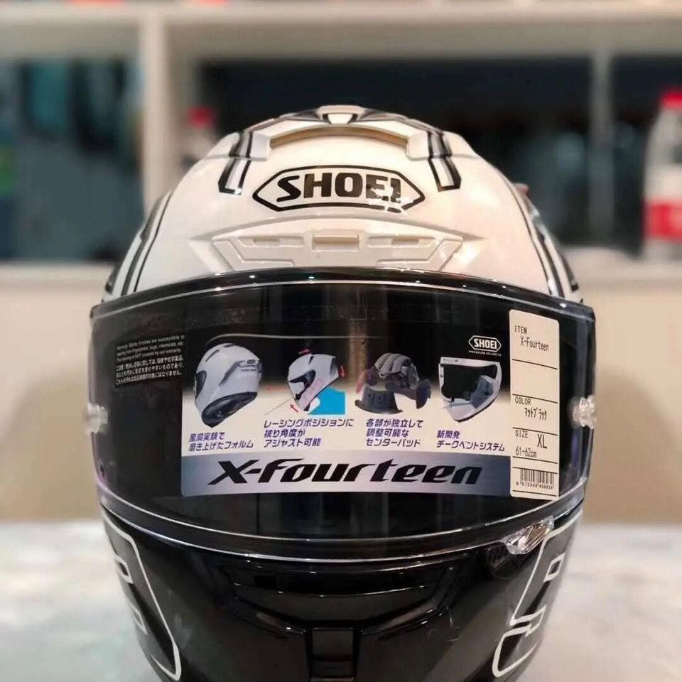 現貨 頭盔x14系列全盔摩托車機車全覆式炫酷四季男女通用白螞蟻shoei