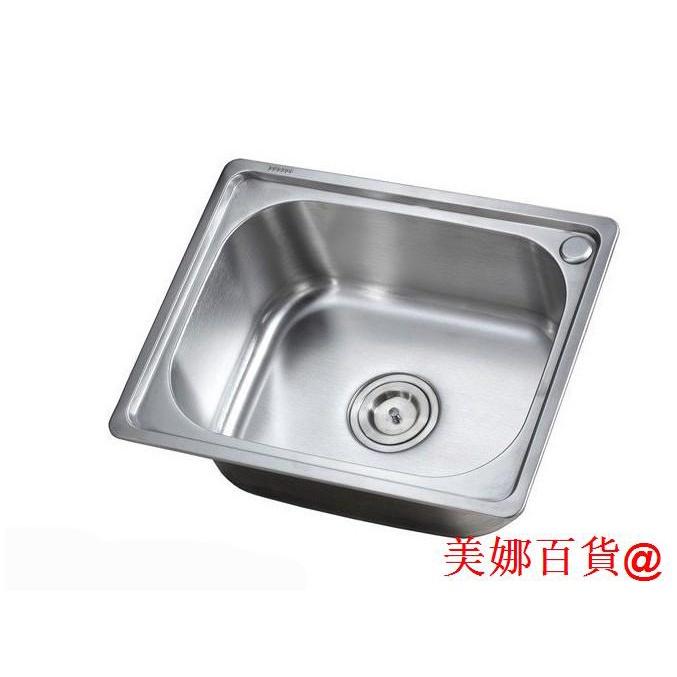 熱銷/☃❦∏包郵大水槽小單盆加厚一體成型304不銹鋼小單槽洗菜盆洗手盤水池