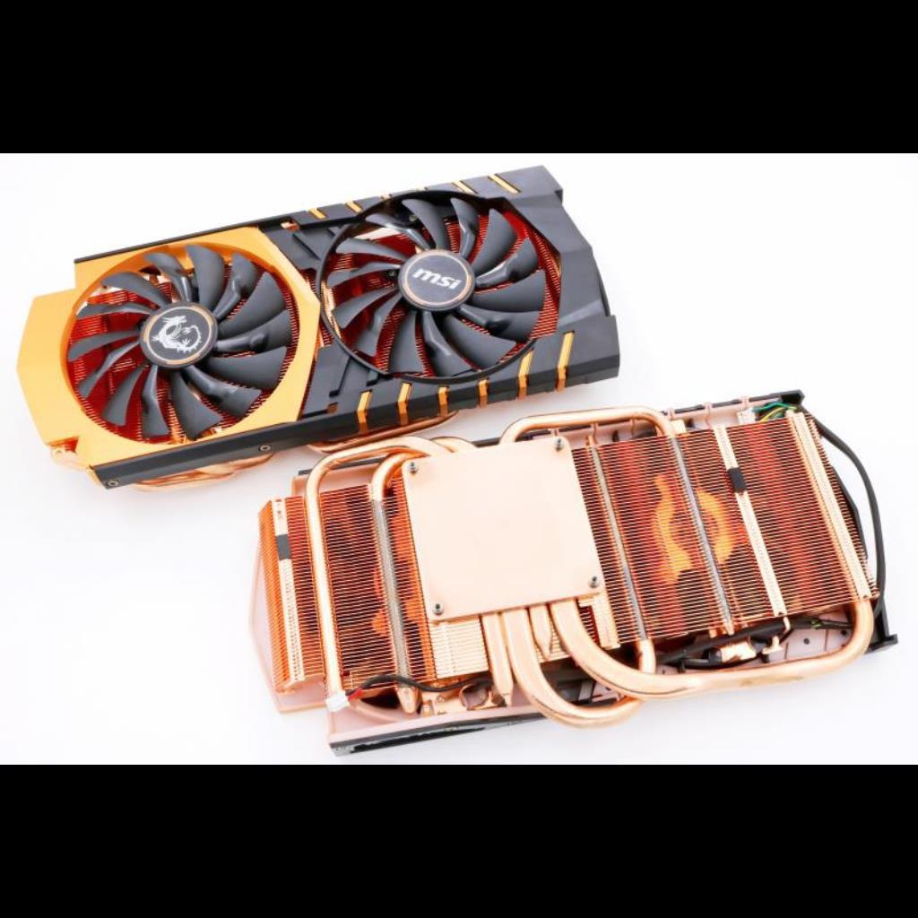 微星GTX970黃金限量版顯卡散熱器 兼容微星GTX970/980/980Ti顯卡