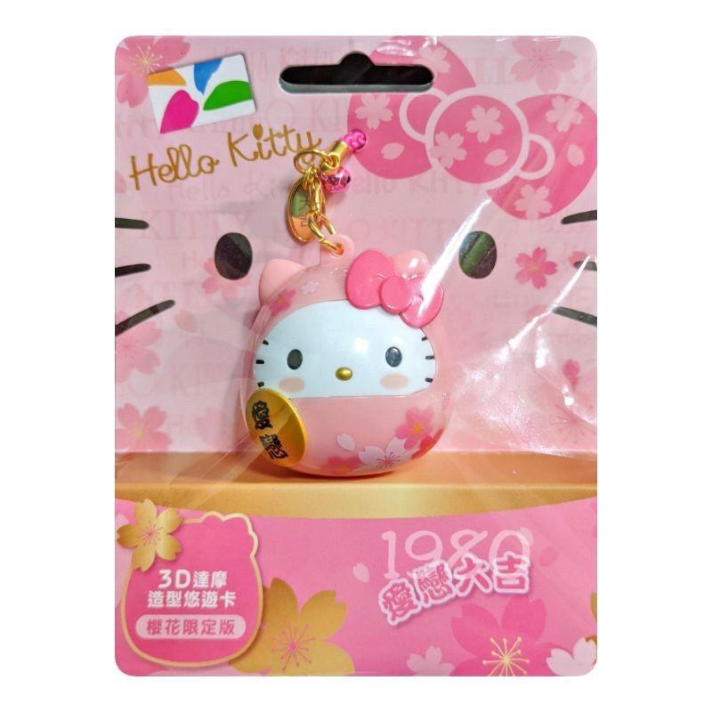 粉紅達摩kitty悠遊卡
