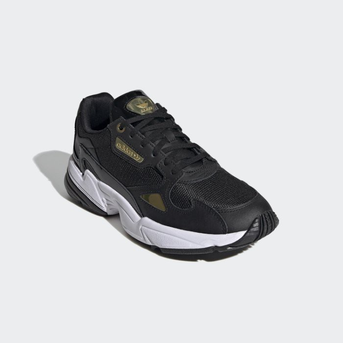 ADIDAS ORIGINALS FALCON 復古 老爹鞋 女鞋 白金 FV5091 黑 EF4988 YTS