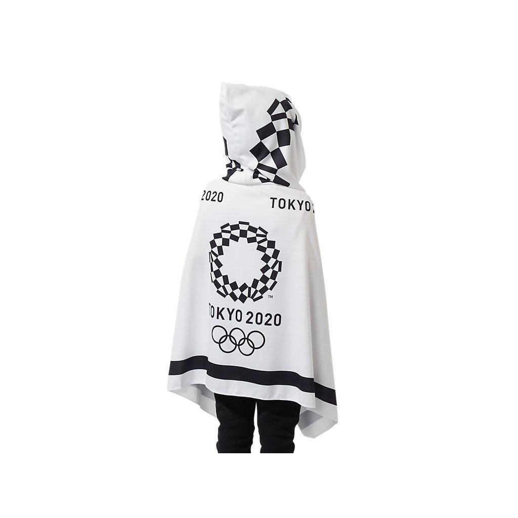 東京奧運限定 連帽披巾浴巾 白色 50×115cm 東奧 紀念品週邊官方商品 現貨商品 售完為止