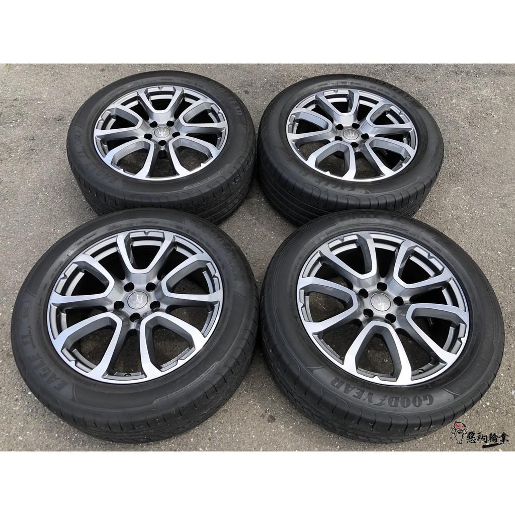 二手/中古鋁圈輪胎 原廠 瑪莎拉蒂 levante 19吋 5孔114.3 灰 含輪胎 固特異 265/50-19