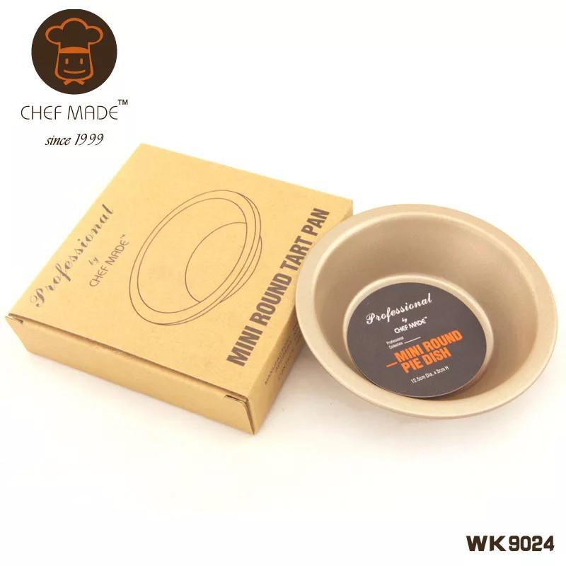【Chefmade學廚】WK9024 漢堡模/墨西哥麵包模/派盤 12.5*3cm