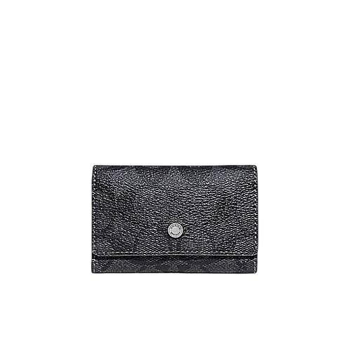 【Jennybaby時尚精品】COACH 78675-黑灰色 PVC材質 5孔鑰匙包【$1580】