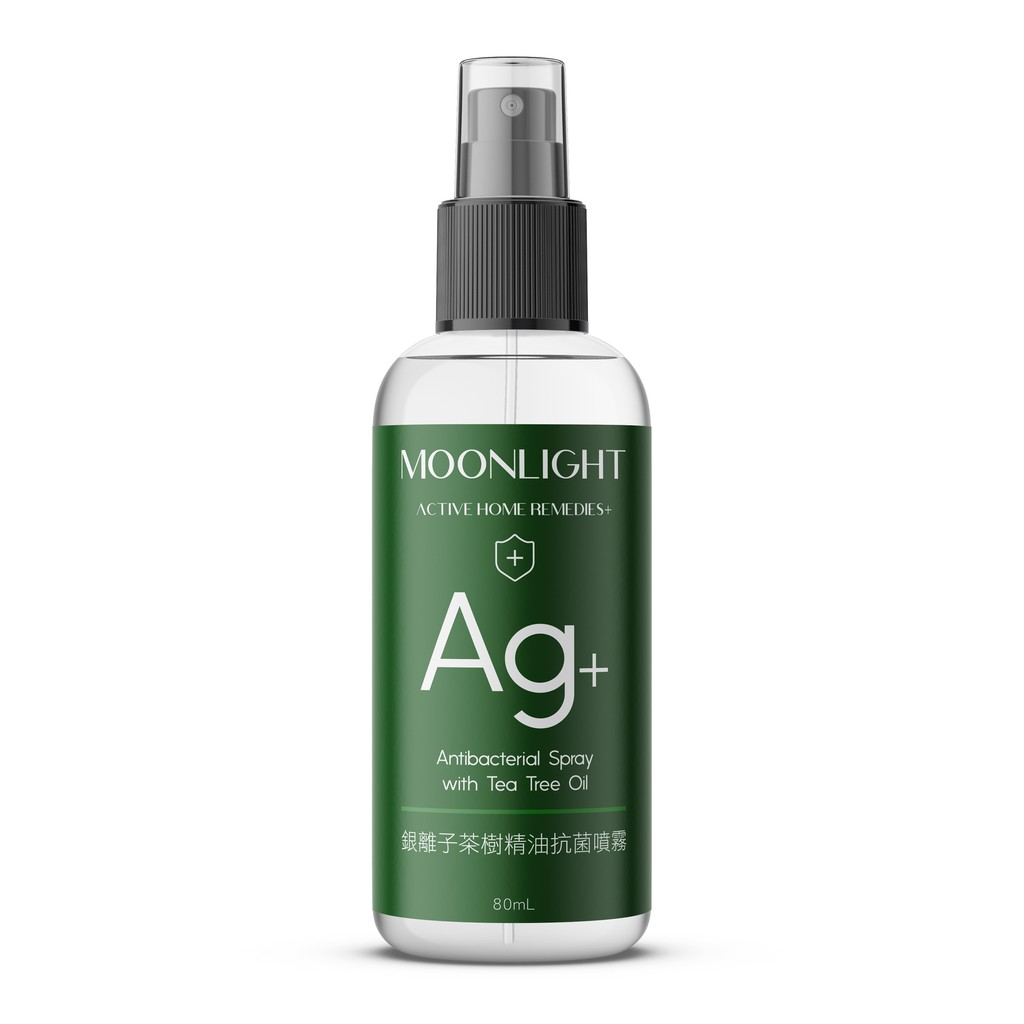 Moonlight Ag+銀離子茶樹精油抗菌噴霧 80mL 銀離子 乾洗手 茶樹精油 腸病毒 防疫必備 SGS抗菌測試