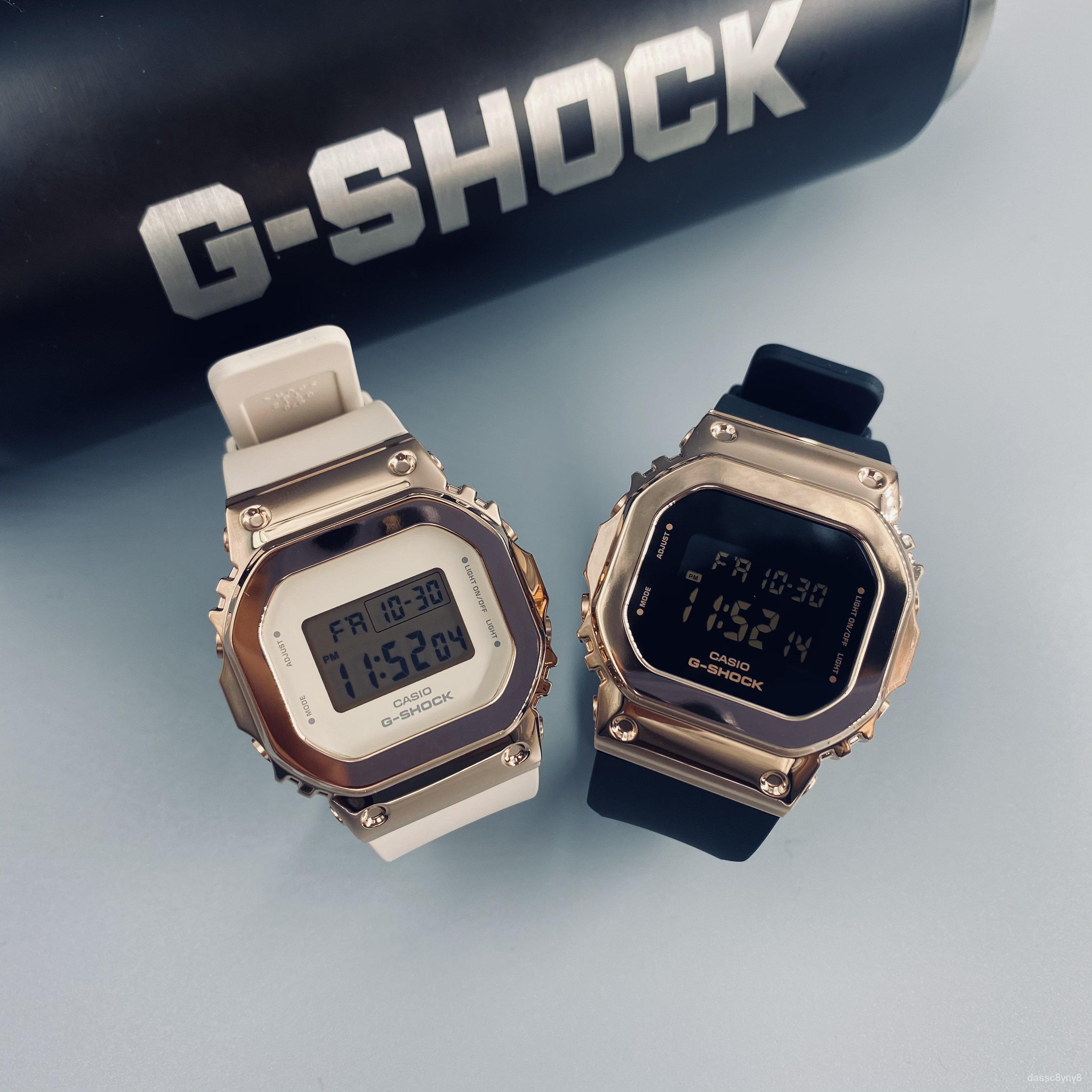 卡西歐GSHOCK女款金屬小方塊防水手錶GM-S5600-1PR/S5600PG-1/4PR lIb8