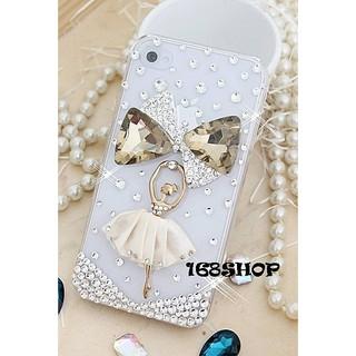 A137蝴蝶結芭蕾(白) 水鑽殼 HTC M7/ M8/ M9/ M9+/ M10/ E8/ E9+/ A9/ X9/ 820/ 825/ 826/ 728 美圖M4 M6 V4 保...