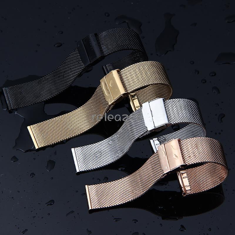 ⌚️錶帶專家🌟適用BREITLING百年靈表帶鋼帶 實心厚款編織網帶不銹鋼男女表鏈22