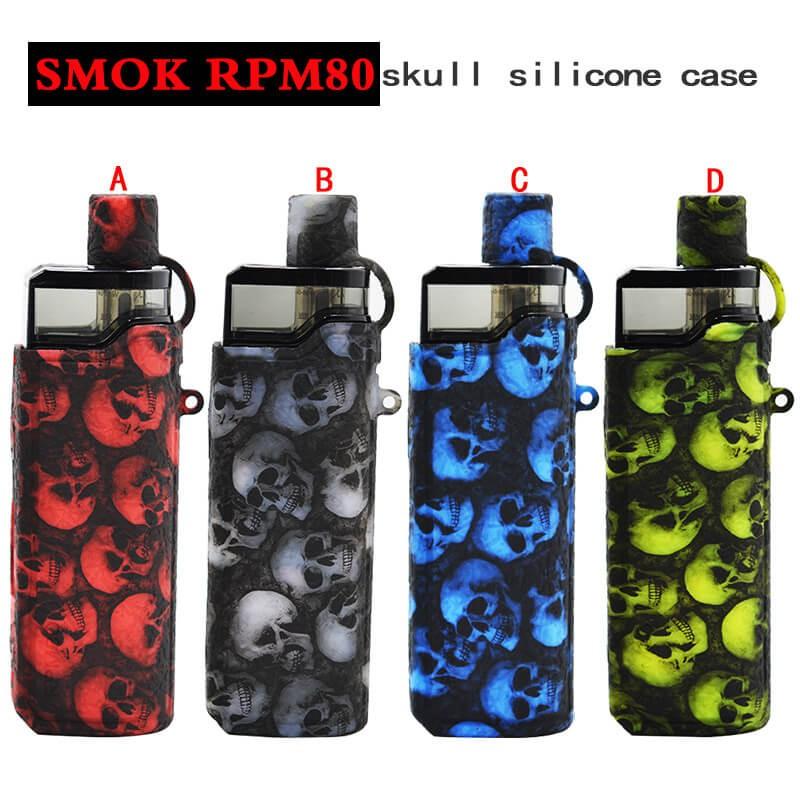 【用於RPM80的頭骨設計保護套】用於smok rpm80的頭骨矽膠套,帶有免費掛繩