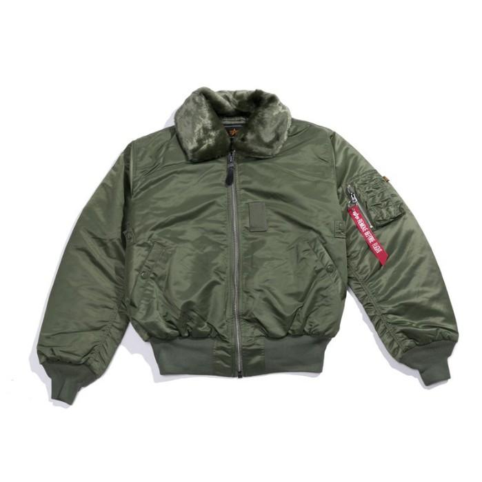 Alpha-B-15 毛領飛行外套 綠色MA1 飛行夾克 軍裝外套 深藍色 藤原本舖 美牌