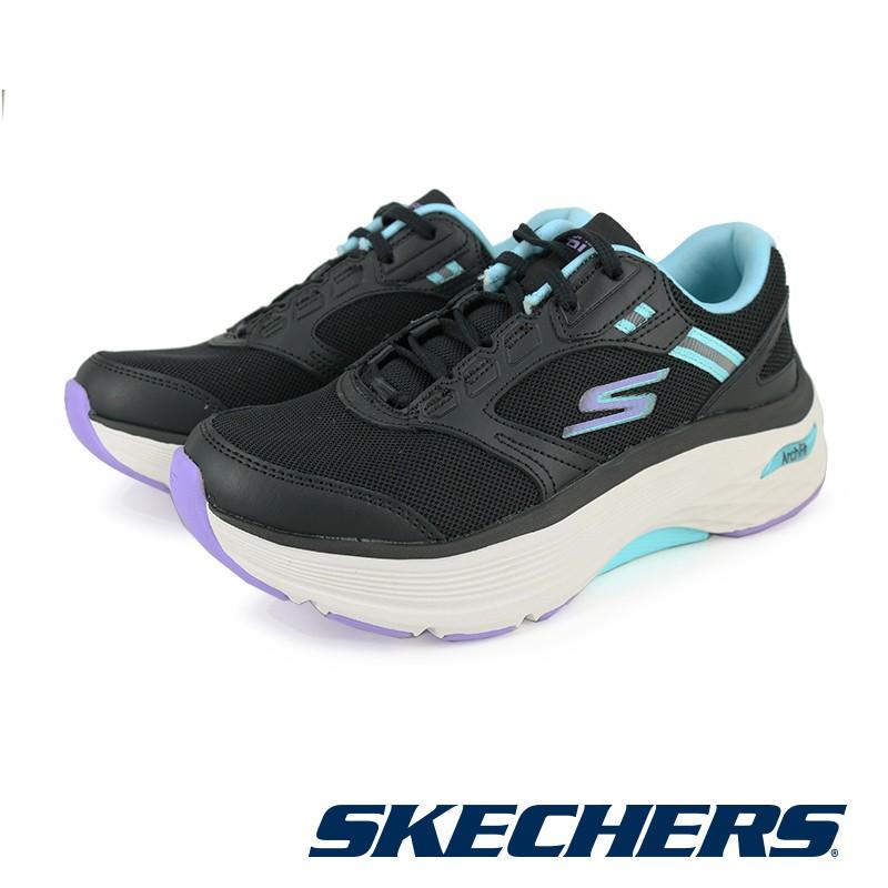 SKECHERS 女慢跑系列 GORUN MAX CUSHIONING ARCH FIT - 128301-黑綠BKAQ