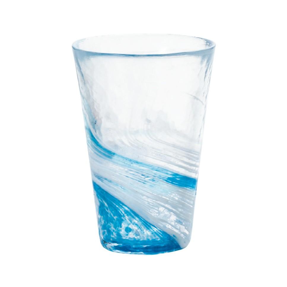 【日本ADERIA津輕】漩渦玻璃飲料杯300ml(共3色)《泡泡生活》