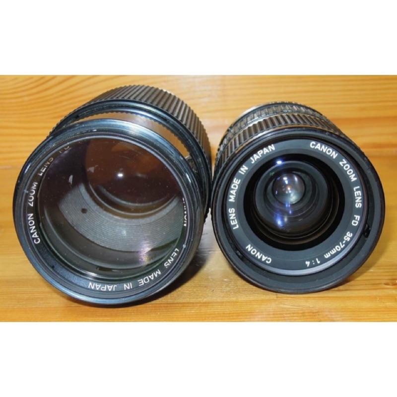 鏡頭 fd canon 35 70mm 70 210mm f4 兩支ㄧ起賣