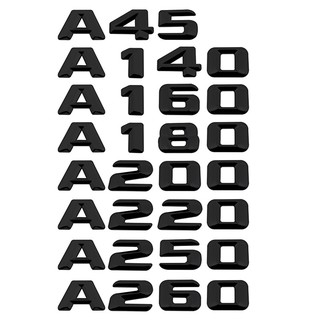 適用於賓士A45 A140 A160 A180 A200 A220 A250汽車車尾門後備箱裝飾車標貼 數字字母排量標