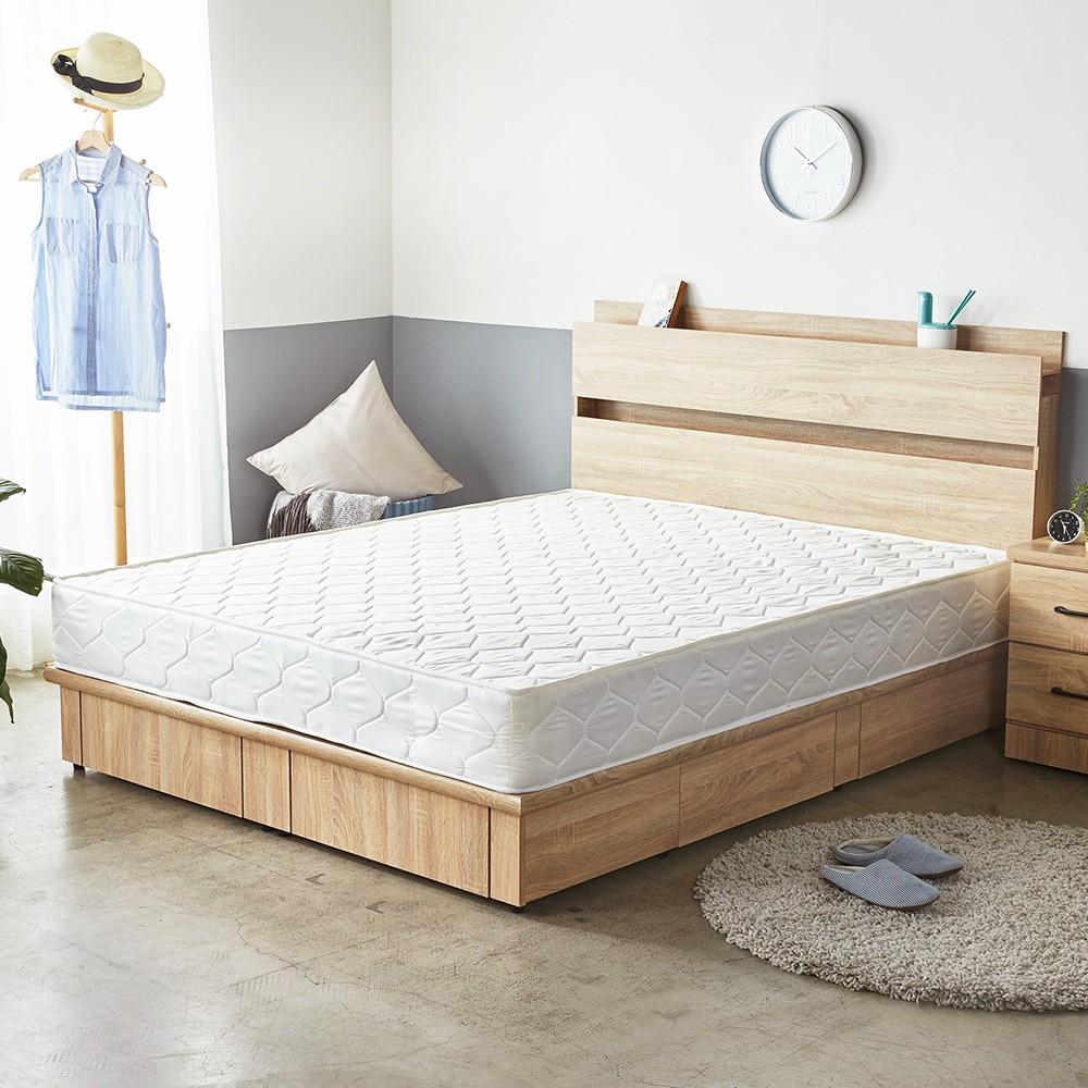 H&D 東稻家居 Jamie傑米日式簡約5尺雙人獨立筒床墊
