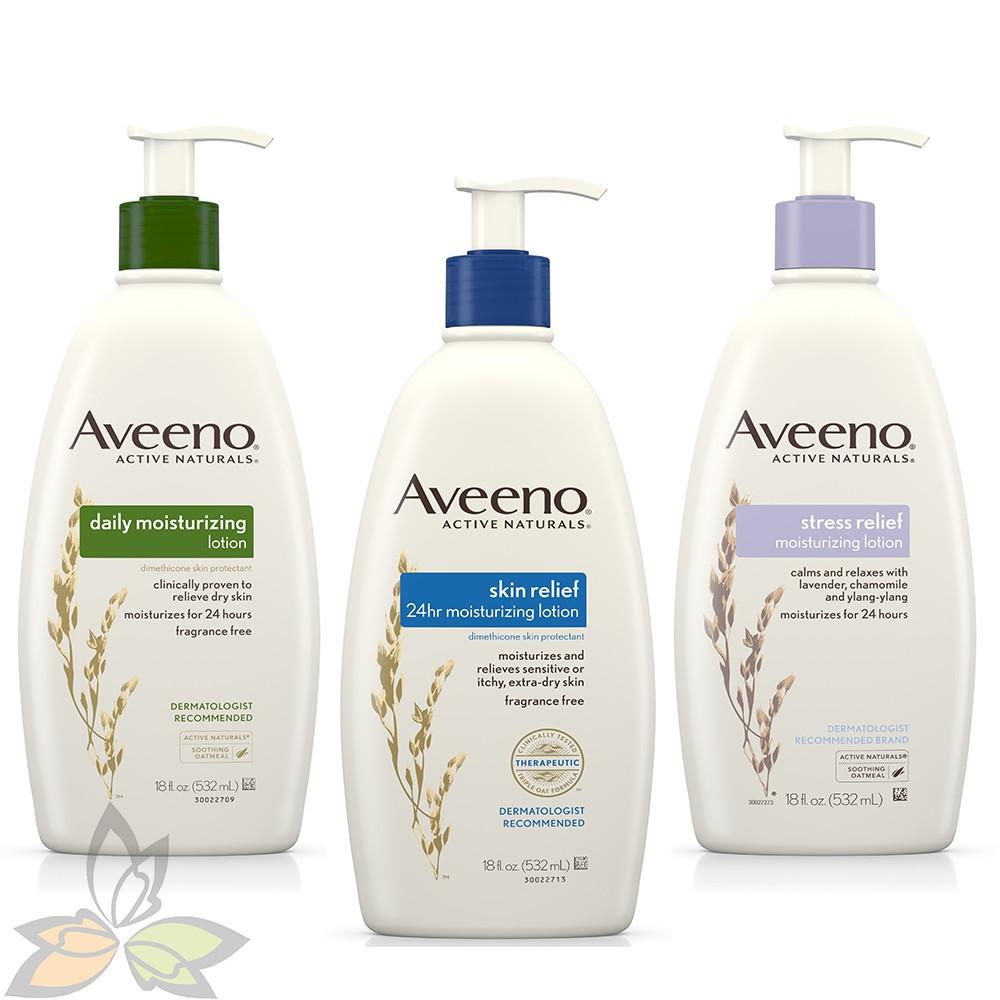 【特惠x預購】Aveeno 艾惟諾 家庭號大包裝532ml 天然燕麥24小時保濕乳液 三款可選