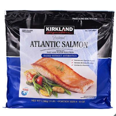 【蝦皮茉兒】宅配免運 🚚 科克蘭 冷凍鮭魚排 1.36公斤 COSTCO 好市多 產地:挪威