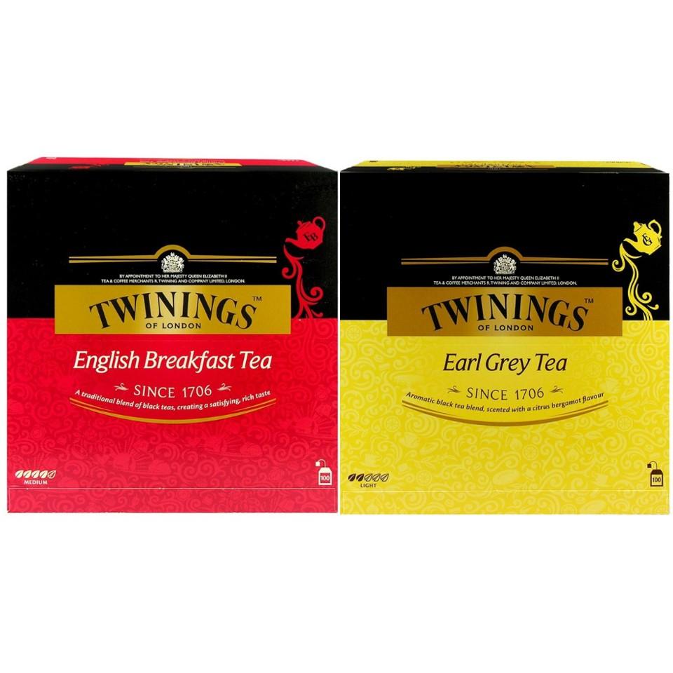 【Kiki9好市多代購】Twinings唐寧茶 英倫早餐茶/皇家伯爵茶100包   紅茶茶包