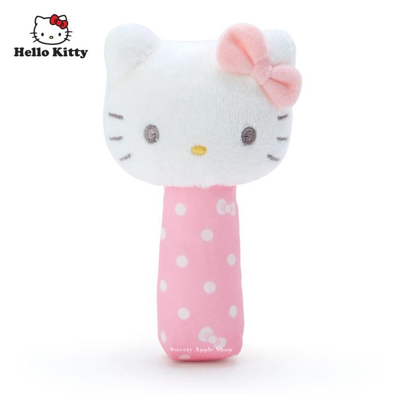 三麗鷗【 SAS日本限定 】HELLO KITTY 凱蒂貓 baby 嬰幼兒 幼童 玩偶手搖鈴