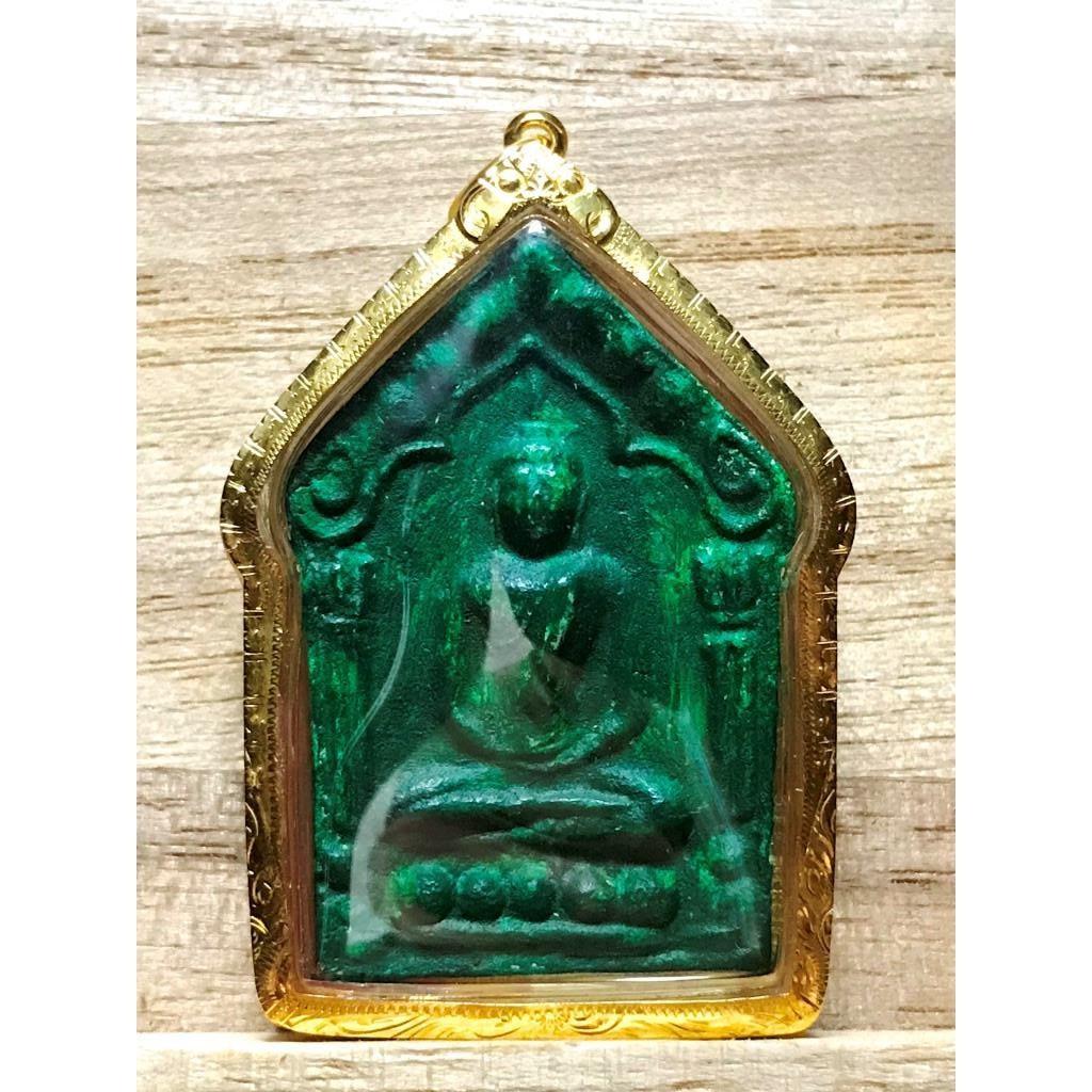 泰法藏-龍婆薩空-瓦農敢-2543派古曼坤平-稀有綠人緣膏銀符管版-純金殼+沙馬公卡-下標前先聊聊