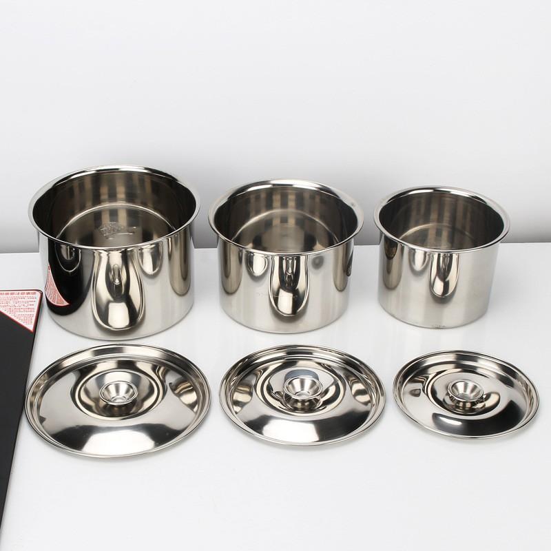 加深304不銹鋼味盅 酒店后廚調味調料缸料理碗帶蓋不銹鋼盆打蛋盆