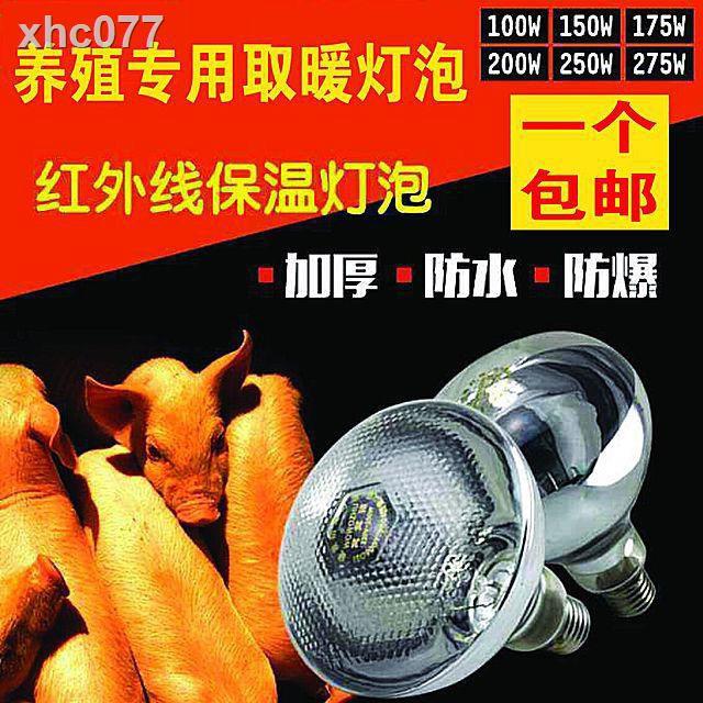 【現貨】❈保溫燈養殖取暖防爆節能加厚紅外線畜牧小雞仔豬加熱烤燈保暖燈泡