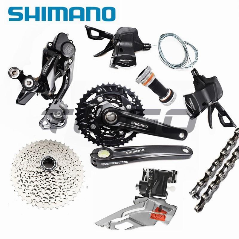 Shimano Deore M6000 MTB 自行車 3 × 10 速組 SL-M6000 移位器 RD-M6000