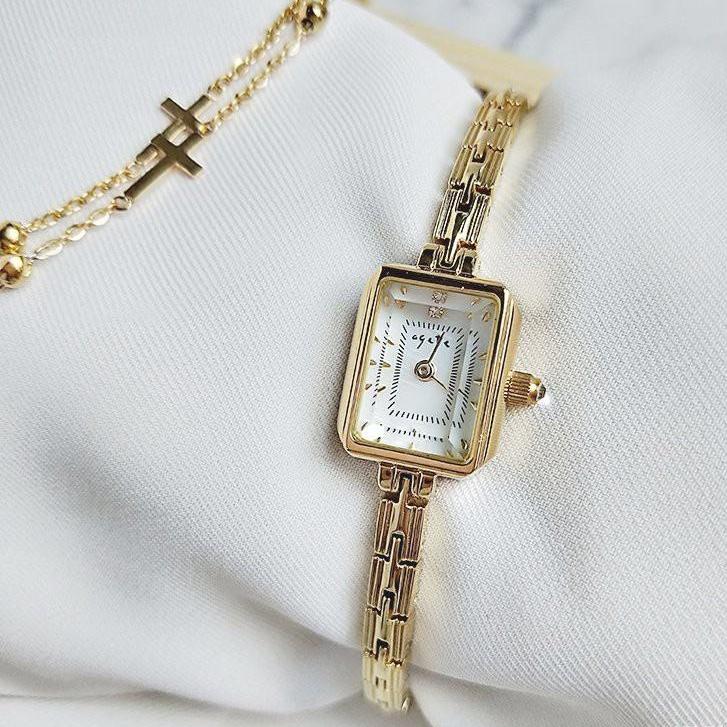 MG~ag ete同款長方形手錶少女防水簡約百搭小眾輕奢氣質學生森系ins風
