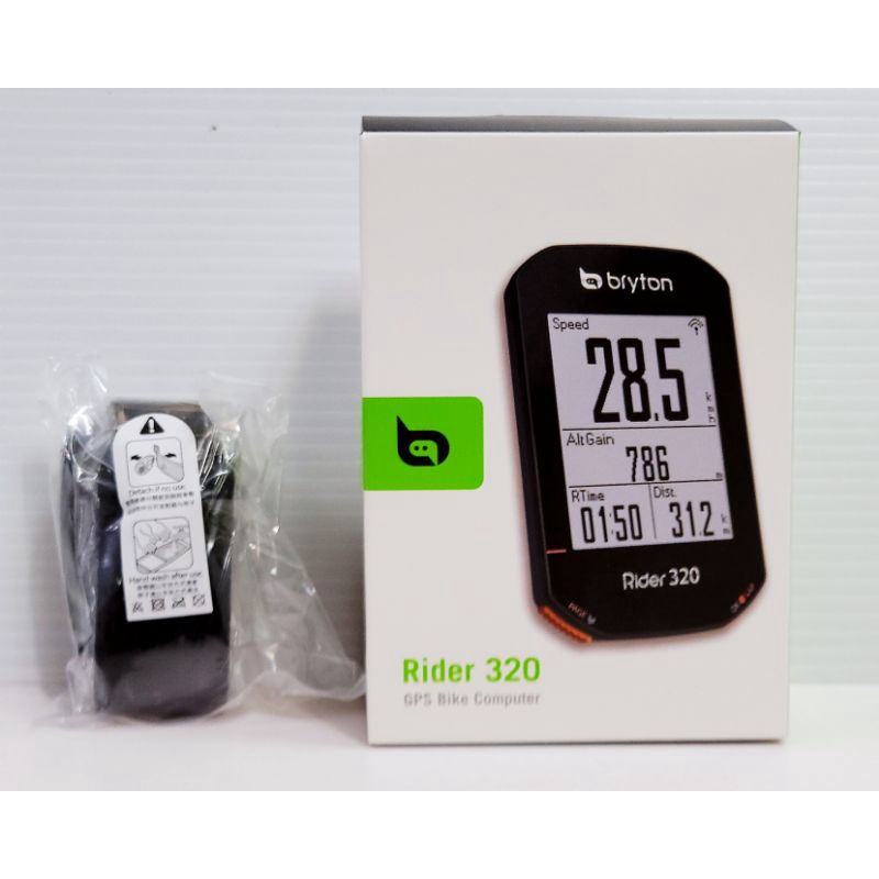 99超狂購買 (主機+心跳錶帶組)Bryton Rider 320E GPS全中文碼錶 35小時高續航力 2.3吋大螢幕